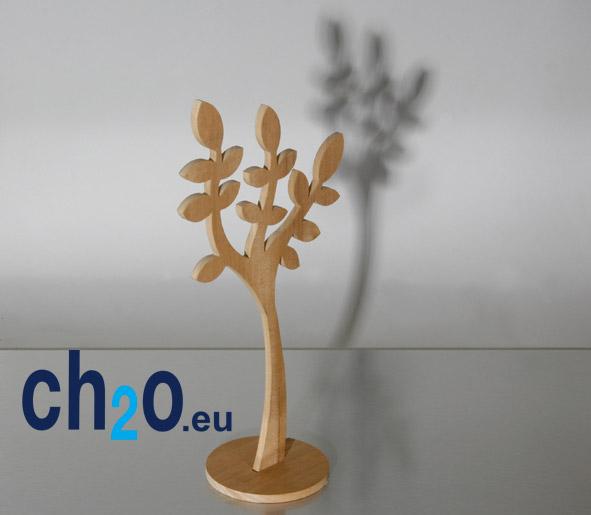 Modèle en bois usinage numérique décor de vitrine
