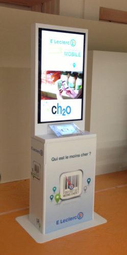 plv présentoir display metal digital avec écran