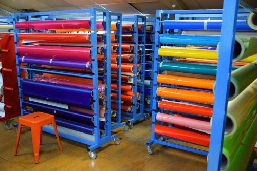vinyles de couleur pour présentoir plv display